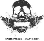 skull grunge banner