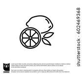 web line icon. lemon | Shutterstock .eps vector #602469368
