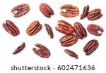 Roasted Pecan Fruits On White ...
