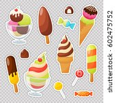 fashion patch badges with... | Shutterstock .eps vector #602475752