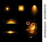 set. shining star  the sun... | Shutterstock .eps vector #602483192