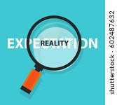 expectation vs reality concept... | Shutterstock .eps vector #602487632