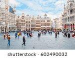 brussels  belgium   october 13  ... | Shutterstock . vector #602490032