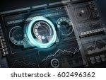 user digital display . mixed... | Shutterstock . vector #602496362