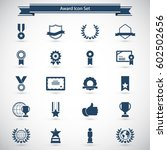 award and honor icon set | Shutterstock .eps vector #602502656