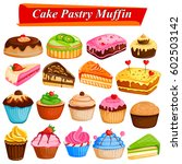 illustration of set of yummy... | Shutterstock .eps vector #602503142