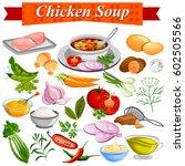 illustration of ingredient for... | Shutterstock .eps vector #602505566