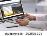 travel concept. woman using... | Shutterstock . vector #602508326