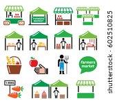 farmers market  food market... | Shutterstock .eps vector #602510825