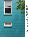 blue brick wall with window on... | Shutterstock . vector #60251821