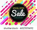 sale. | Shutterstock .eps vector #602535692