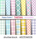 set of fourteen easter colors... | Shutterstock .eps vector #602536028