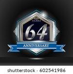 64 years anniversary logo... | Shutterstock .eps vector #602541986