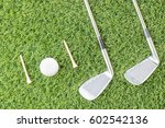 sport objects related to golf... | Shutterstock . vector #602542136