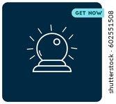 psychics ball vector icon. ... | Shutterstock .eps vector #602551508