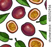vector seamless pattern with... | Shutterstock .eps vector #602552936