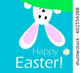 happy easter  background... | Shutterstock .eps vector #602554388