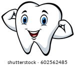 Strong Tooth Cartoon Character