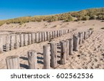 Wooden Groynes On Beautiful...