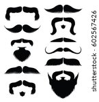 vector beard and mustache style ... | Shutterstock .eps vector #602567426