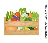 fresh healthy vegetables in a... | Shutterstock .eps vector #602575706
