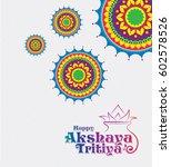 akshaya tritiya background... | Shutterstock .eps vector #602578526