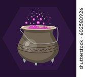 cartoon halloween witches... | Shutterstock .eps vector #602580926