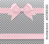 pink gift ribbon and bow. | Shutterstock .eps vector #602583182