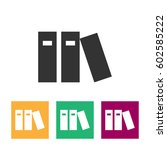 book icons | Shutterstock .eps vector #602585222