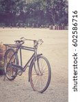vintage bicycle wheel | Shutterstock . vector #602586716