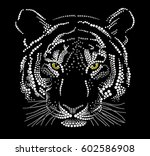 muzzle of a tiger   Shutterstock .eps vector #602586908