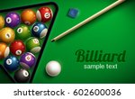 billiard table top view balls... | Shutterstock .eps vector #602600036