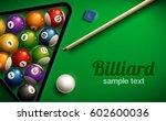 Billiard Table Top View Balls...
