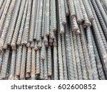 steel rod for construction...   Shutterstock . vector #602600852