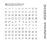 symbols mini line ... | Shutterstock .eps vector #602602142