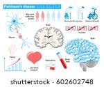 parkinson's disease. elderly...   Shutterstock .eps vector #602602748