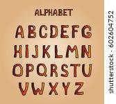 cartoon aggressive orange font... | Shutterstock .eps vector #602604752