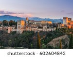 arabic palace alhambra in...   Shutterstock . vector #602604842