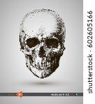 vector halftone skulls. skull... | Shutterstock .eps vector #602605166