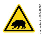 bear warning sign  symbol ... | Shutterstock .eps vector #602610686