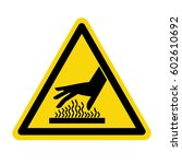 caution hot surface sign ... | Shutterstock .eps vector #602610692