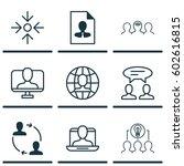 set of 9 business management...   Shutterstock .eps vector #602616815