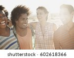 a group of friends  men and... | Shutterstock . vector #602618366