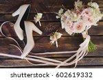 bridal morning details...   Shutterstock . vector #602619332