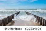 Ocean View With Breakwater And...