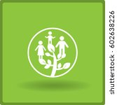 flat icon. family tree. | Shutterstock .eps vector #602638226