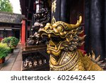 Dragon Statue In Iron Pagoda...