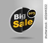 sale banner stickers design. | Shutterstock .eps vector #602644322