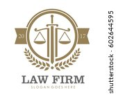 law firm  attorney  lawyer... | Shutterstock .eps vector #602644595