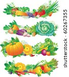 banners with vegetables | Shutterstock .eps vector #60267355